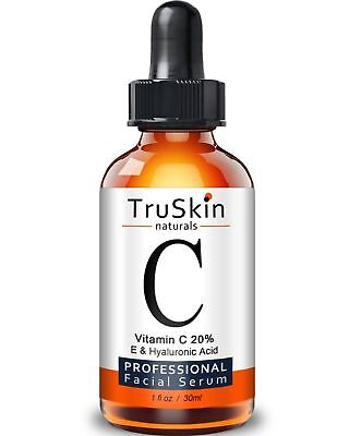 TruSkin Naturals Vitamin C E Serum for Face Topical Facial Serum Anti Aging 1 oz
