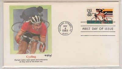 UNITED STATES 1983-4 OLYMPIC FDI Cover Cycling