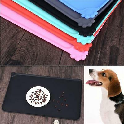 Silicone Pet Feeding Food Mat for Dog Cat Placemat Dish Bowl Non Slip LG