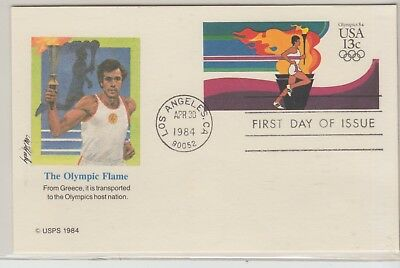 UNITED STATES 1983-4 OLYMPIC FDI Cover Olympic Flame