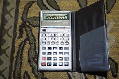Vintage CASIO BF 100 Electronic Calculator with Cover made in Japan WORKING