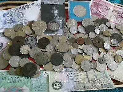 JOB LOT OF OLD COINS AND BANKNOTES 99p L21 D