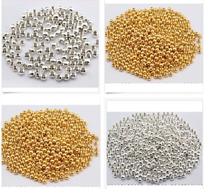 wholesale 100/10000pcs 2-10mm  DIY Jewelry Accessories Positioning metal Beads