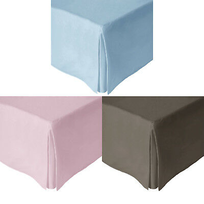180TC Polyester Cotton Valance / Bed Skirt 33cm Wall - SINGLE DOUBLE QUEEN