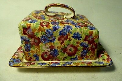 Royal Winton Grimwades Floral All Over Royalty Pattern Butter Dish