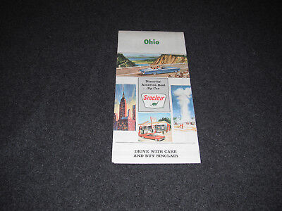 Sinclair 1966 Ohio Road Map Rand McNally Route Marked in Green Highlight