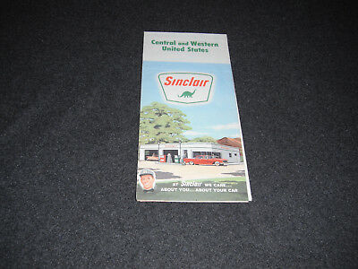 Sinclair 1963 Central & Western United States Road Map Rand McNally