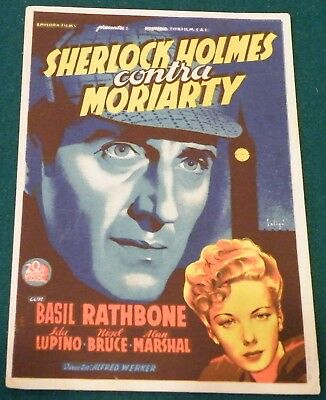 Adventures of Sherlock Holmes (1939) Rathbone Original   Poster Spanish Herald