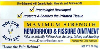Doctor Butler's Hemorrhoid & Fissure Ointment...FDA Approved Relief & Healing...
