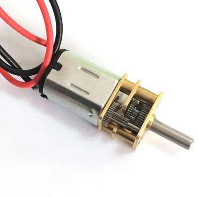 N20 DC 3-6V High Torque Reduction Metal Gear Gearbox Motor D-Type,DIY Robot Car