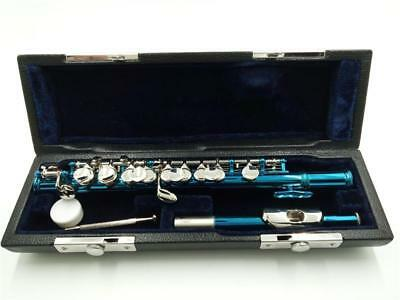 E19 C Key Silver Plated Professional Musical Instrument  Piccolo With Case Bag O