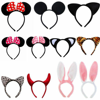 Minnie Mouse Ears Bow Headband Nights Womens Girls Mickey Party Fancy Dress #1