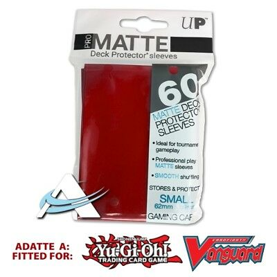 60 Bustine Protettive NEW Ultra PRO MATTE Small Size Sleeves • Rosso Red