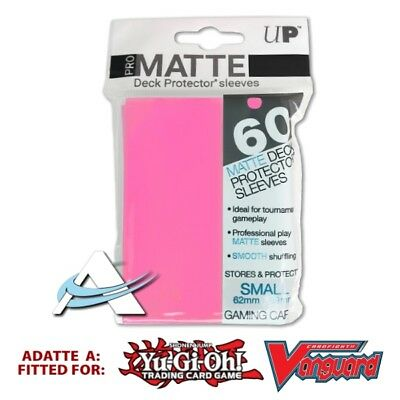 60 Bustine Protettive NEW Ultra PRO MATTE Small Size Sleeves • Rosa Bright Pink