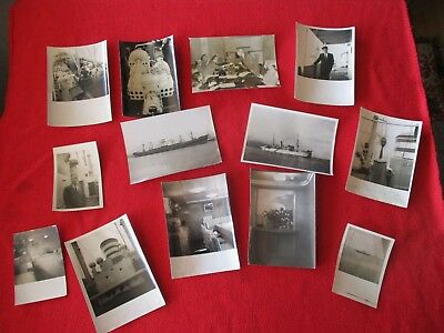 1950's (13) Ship Building,Detailed unknown ships/ORIGINAL Photograph lot