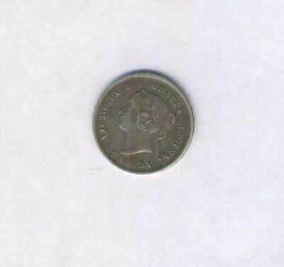 1885 Canadian 5 Cents Silver Victoria