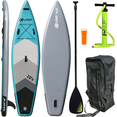 EXPLORER SUP Board Stand Up Paddling Surfboard aufblasbar Paddel ISUP Paddle 330