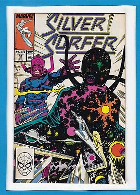 Silver Surfer #10_April 1988_Fine/very Fine_Galactus_Nova_Marshall Rogers!