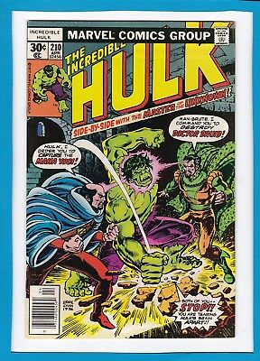 "Incredible Hulk #210_April 1977_Vf/nm_""and Call The Doctor...druid""_Bronze Age!"