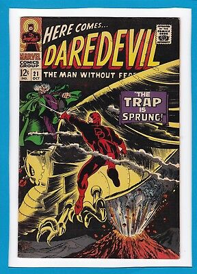 """Daredevil #21_October 1966_Very Fine_The Owl_""""the Trap Is Sprung""""_Silver Age!"""