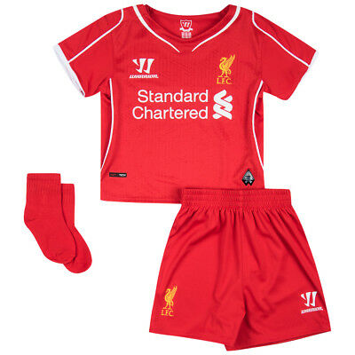 Liverpool FC Warrior Heim Kleinkinder Training Trikot Shorts Set WSTB400-HRD neu