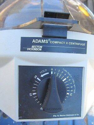 ADAMS Compact II Benchtop 6 Place 0225 Lab CENTRIFUGE ~Becton-Dickinson~