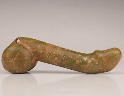 Old Natural Jade Carving Large Male Genitals Pendant Statue