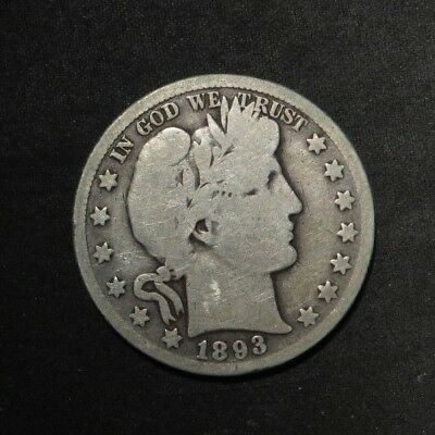 1893-O Barber Half Dollar 50¢- Good