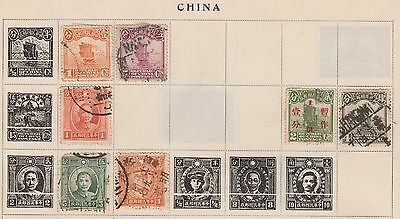 CHINA COLLECTION Republic of China on Old Pages USED #