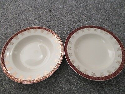 Vintage Alfred Meakin The Post House Brown 8.75 Inch Bowl Quality First Pottery, Porcelain & Glass