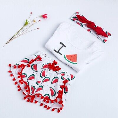 Baby Girls Summer Watermelon Toddler Romper Newborn Kids Clothes Outfits