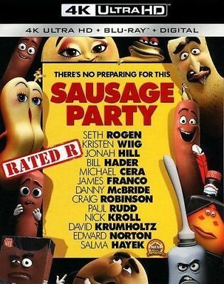 Sausage Party 4K Ultra HD 1-BLU RAY DISC ONLY NO CASE NO ART NEVER VIEWED