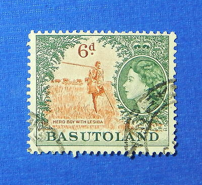1954 BASUTOLAND 6d SCOTT# 51 S.G.# 48 USED                               CS20176