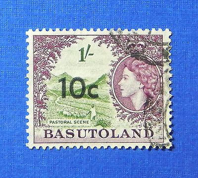 1961 BASUTOLAND 10c SCOTT# 67 S.G.# 64 USED                              CS20215