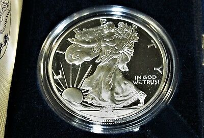 Nice 2003-W U. S. Mint Issued PROOF One Troy Ounce Pure Silver Eagle