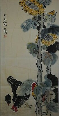 Rare Large Chinese Painting Signed Master Xu Beihong No Reserve Unframed E7975