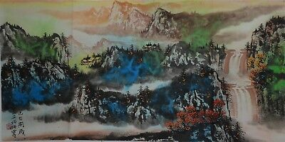 Fine Large Chinese Painting Signed Master He Haixia No Reserve Unframed H3791