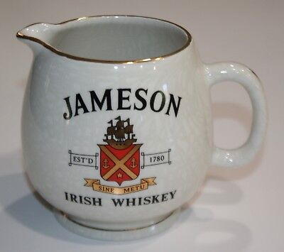 Vintage JAMESON Irish Whiskey Jug pitcher Arklow Made in England Whisky pub jug