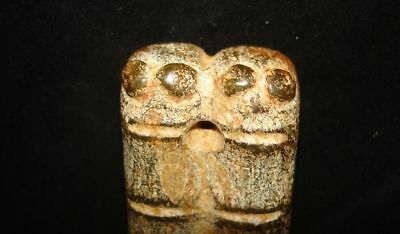 Wow!  Stone Amulet!  Alien? Angel? God? Demon Animal?   5000 Years Old!