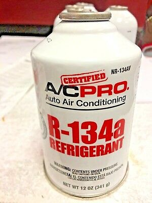 R134a Refrigerant, A/C Pro, NEW EPA REQUIRED Self-Sealing Can,12 oz. 341 g.