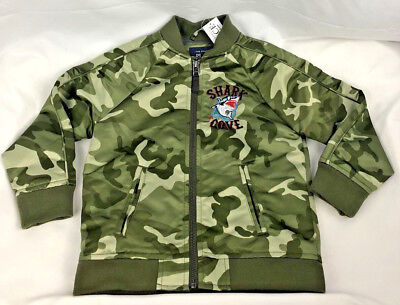 Children's Place Toddler Boys Camouflage Embroidered Shark Cove Jacket New