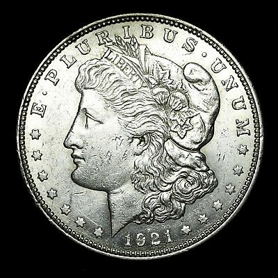 1921 D ~**ABOUT UNCIRCULATED AU**~ Silver Morgan Dollar Rare US Old Coin! #531