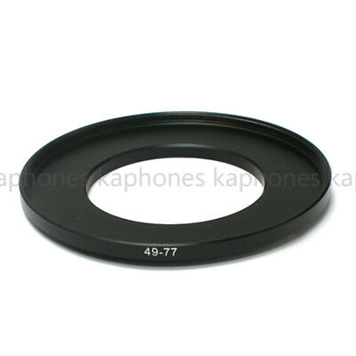 49-77mm Step-Up Metal Lens Adapter Filter Ring 49mm Lens to 77mm Accessory NEW