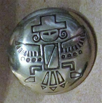 """5 Silver Metal 1 1/8"""" Shank Buttons + Cotter Pins Aztec Southwestern for Leather"""