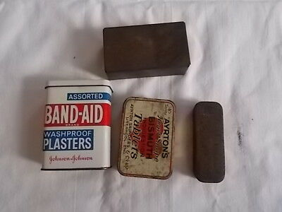 4 Old Tin Boxes