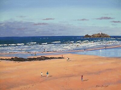 GODREVY  -  CORNWALL  -  Original Oil Painting  by ROBIN BECKETT