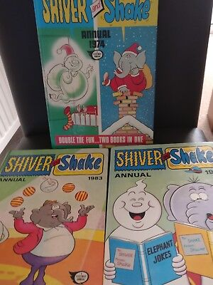 3 x SHIVER and SHAKE Annuals 1974,1981,1983