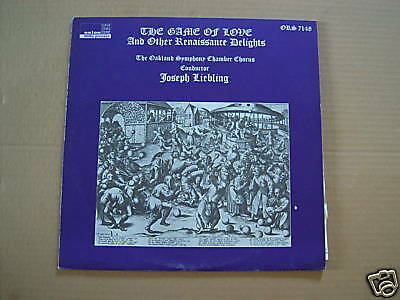The Game Of Love & Other Renaissance Delights - Lp
