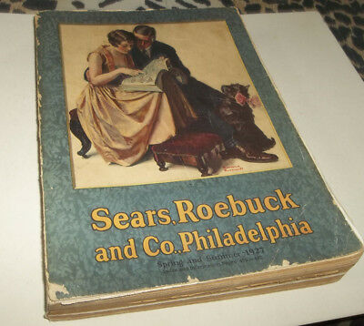 HTF Vtg 1927 Sears Roebuck & Co of PHILADELPHIA Catalog - GR8 Fashion!