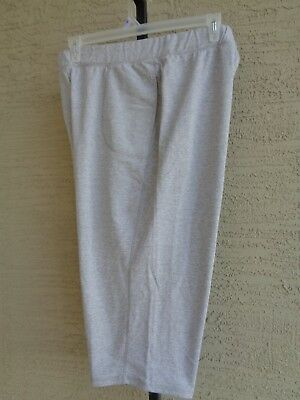 7f597afb9b40 JUST MY SIZE PULL ON FRENCH TERRY JERSEY KNIT POCKET CAPRIS 2X Lt. Steel